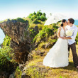Wedding on the cliff — Stock Photo