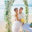 Romantic wedding on the beach, bali — Stock Photo #26365573