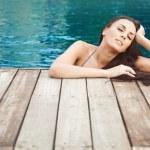 Spa in pool, woman — Stock Photo