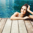 Stock Photo: Spa in pool, woman