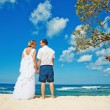 Wedding day near the ocean — Stock Photo