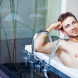 Man taking bath — Stock Photo
