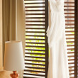 Stock Photo: Wedding dress hanging