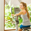 Woman in gym — Stock Photo