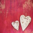 Wooden background for valentine's day — Stock Photo