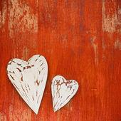 Fond en bois pour la Saint-Valentin — Photo