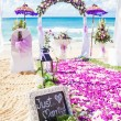 Wedding venue on beach — Stock Photo #38452611