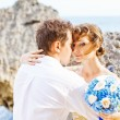 Beautiful couple on a beach — Stock Photo