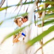 Wedding on exotic island — Stock Photo