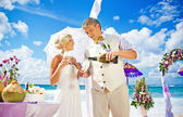 Wedding in bali — Stock Photo