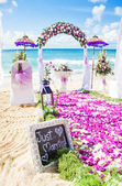 Wedding venue on a beach — Stock Photo
