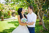 Wedding day outdoors — Stock Photo