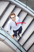 Businessman on a stairs — Stock Photo