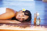 Día en el spa de playa, bali — Foto de Stock