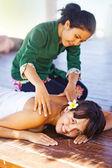 Woman having massage — Stock Photo