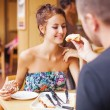 Couple have lunch — Stock Photo #41185067