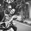Couple on the bike — Stock Photo #41185095
