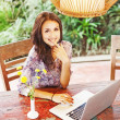 Woman with laptop — Stock Photo #41185101