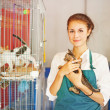 Woman in animal shelter — Stock Photo #41185149