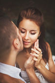 Tender moment of a young couple — Stock Photo