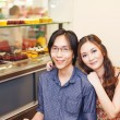 Couple of young chinese entrepreneurs — Stock Photo #48298653