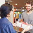 Man receiving present — Stock Photo #48298687