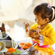 Balinese child in traditional costume — Stock Photo #50784053