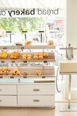 Light interior of bakery — Stock Photo