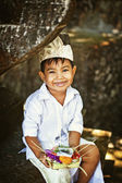 Balinese boy in traditional costume — Stock Photo