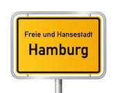 City limit sign HAMBURG - Germany — Stock Vector