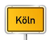 City limit sign COLOGNE - KÖLN - Germany — Stock Vector