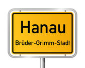 City limit sign HANAU - Germany — Stock Vector