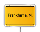 City limit sign FRANKFURT AM MAIN - Germany — Stock Vector
