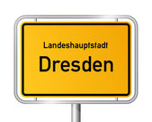 City limit sign DRESDEN - Germany — Stock Vector