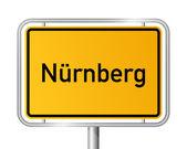 City limit sign NUREMBERG - NÜRNBERG - Germany — Stock Vector