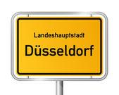 City limit sign DUSSELDORF - DÜSSELDORF - Germany — Stock Vector