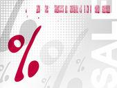 Verkoop achtergrond - procentteken — Stockvector