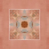 Vintage card design - abstract floral ornament — Stock Photo