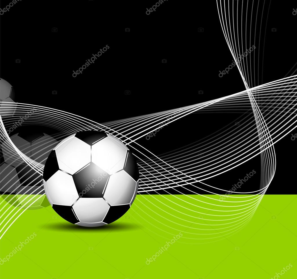 Fondo de pelota de f tbol con l neas abstractas vector for Fondos de futbol