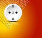 El bakgrund - power energikoncept med utlopp — Stockvektor