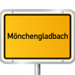 City limit sign Monchengladbach - signage - Germany — Stock Vector