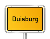 City limit sign Duisburg - signage - Germany — Stock Vector