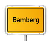 City limit sign Bamberg - signage - Germany — Stock Vector