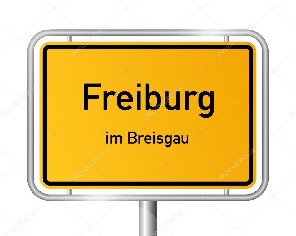 limite de la ville signer freiburg im breisgau signalisation allemagne image vectorielle. Black Bedroom Furniture Sets. Home Design Ideas