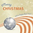 Retro Christmas card - xmas background — Imagen vectorial