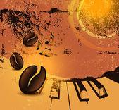 Grunge coffee background — Stock Vector