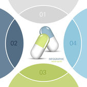 Pharmaceutical info graphic — Stock Vector