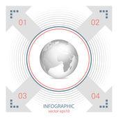 Infographic - marketing plan - global communication — Stock Vector