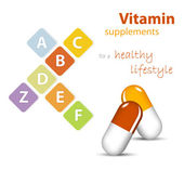 Vitamins - nutritional supplements — Stock Vector