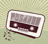 Retro party - old radio — Stock Vector